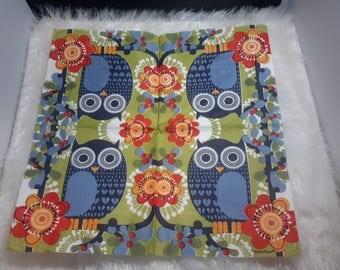 Set of 2 paper napkins depicting owls