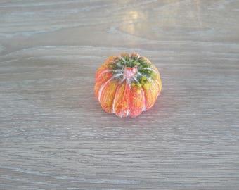 pumpkin plastic floral decoration