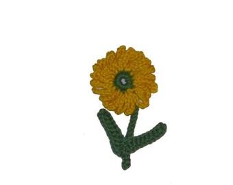 Sunflower with stem crochet