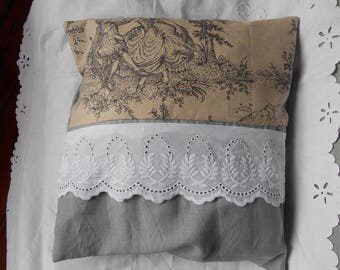 grey Cushion cover and toile