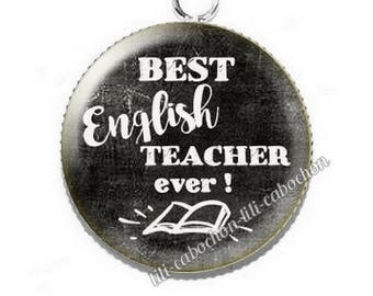 Cabochon resin cameo for English teacher