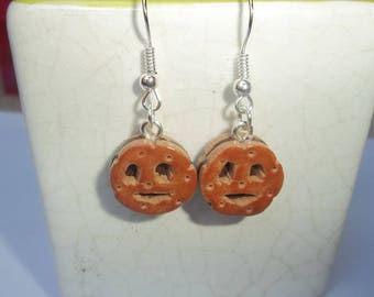 Chocolate cake earrings polymer clay