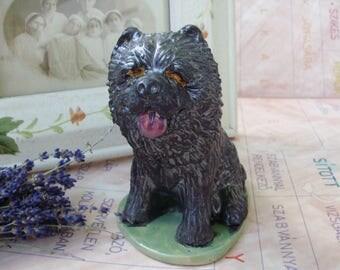 Rare vintage Hungarian ceramic dog,puli