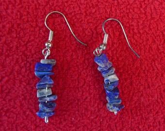 Lapis lazuli earrings, gem stone earrings, blue lapis earrings