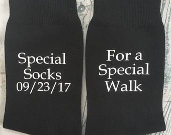 Special socks for a special walk, Father of the Bride socks, wedding socks, wedding gift for Dad, wedding accessories.