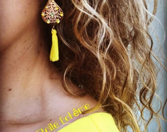 Gold Baroque earrings