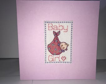 New Baby Card - Girl