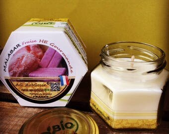 Malabar Strawberry gourmet natural candle with essential oils