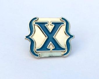 Blue IAMX {X} Logo Enamel Pin