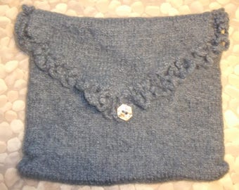 WOOLEN MOHAIR GREY BLUE FELTED TABLET CASE COVER