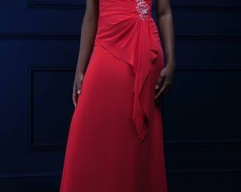 Fierce Red sweetheart breast tube evening dress