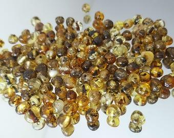 Baltic Amber Beads / Amber Beads / Green Amber Beads / Drilled beads /  Amber Beads for jewelry / Amber Beads 6 mm / wholesale Amber