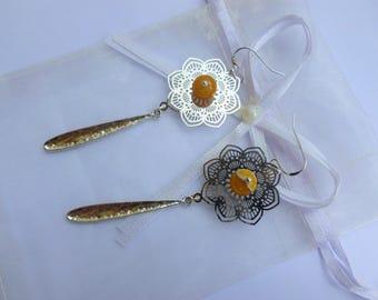 """""""Sunflower"""" earrings"""