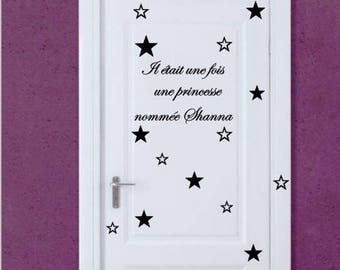 Bedroom door stickers once upon a time
