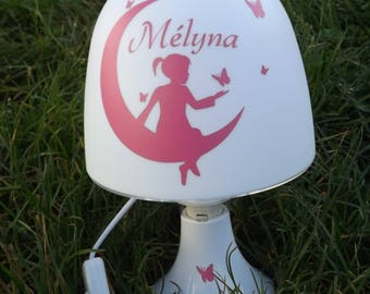 Bedside lamp girl with name
