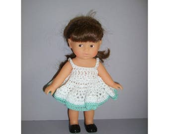 Crochet dress mini doll