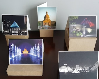 Series of 5 Blank note cards - Edmonton, Alberta