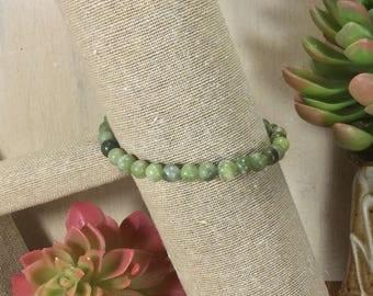 Jade Gemstone | Stretch Bracelet | Stacking Bracelet | Boho Bracelet | Crystal Bracelet | Healing Crystal Jewelry