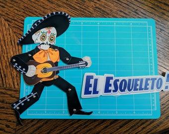 El Esqueleto - Articulated Paper doll