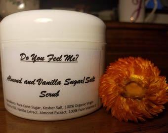 Homemade Almond and Vanilla Sugar/Salt Scrub
