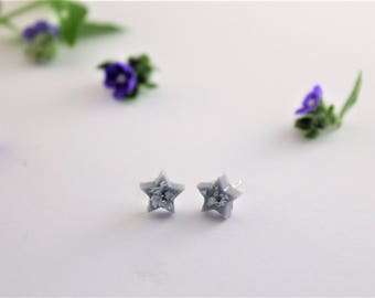 I love you more than all the stars Sterling Silver Stud Earrings