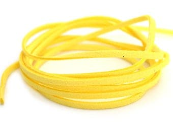 Yellow suede cord