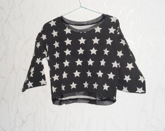 Black and white fleece sweater
