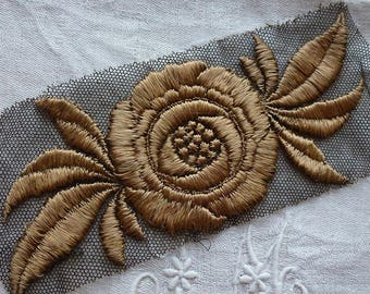antique silk embroidery