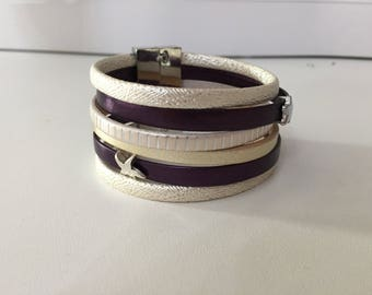 Women's leather Cuff Bracelet
