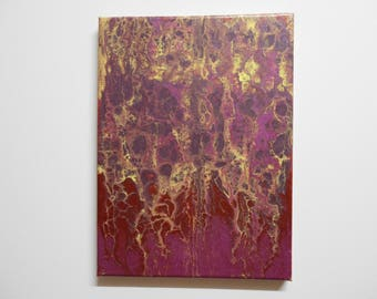 Acrylic Flow Painting on Stretched Canvas
