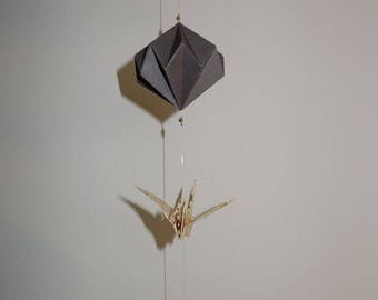 CREATED on demand * Suspension - Mobile - origami - customizable string