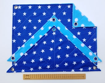 Set of 3 Rat Hammocks (white stars on royal blue/white spots on light blue))