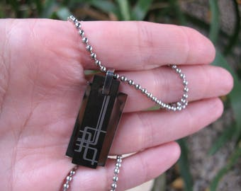 Man 316 L stainless steel necklace