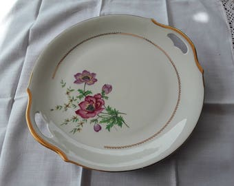 Antique France porcelain serving dish