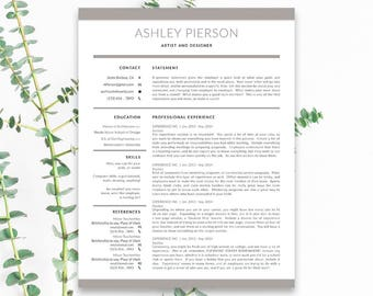 InDesign format | Resume Template | Cover Letter Template | Instant Download | Professional