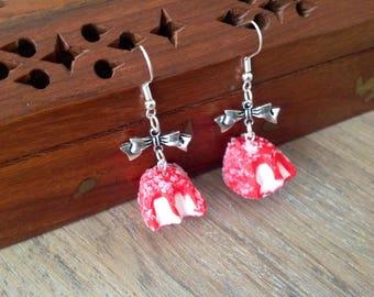 """Earrings """"my little Strawberry crunch"""":"""