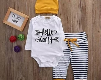 Hello world 3 piece set