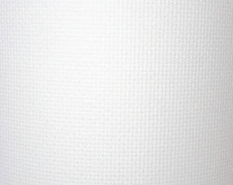 Coupon canvas aida to stitch 75 x 50 cm white or Ecru