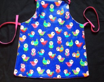 Activities in cotton apron coated 2-5 years