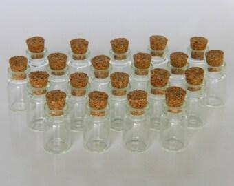 Bag of 20 mini bottles bottles 18x10mm vials