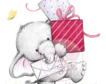 Wild Rose Studio Bella with Presents New clear stamp
