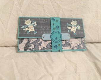 Gift card holder scrapbooking Christmas certificate