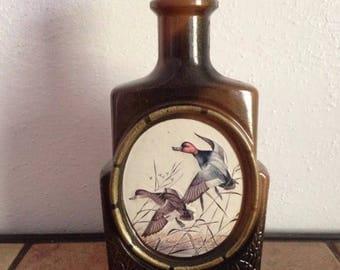 "Vintage Jim Beam Decanter ""The Mallard"" James Lockhart Man Cave Bar Ware"