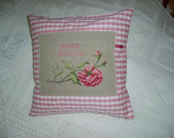 Embroidery cross stitch on pillow cover