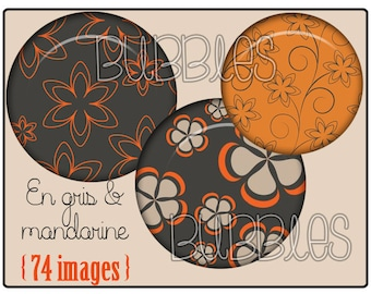 Digital collage sheets - Flowers Printable Images for Jewelry Making