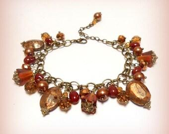 "Charm bracelet beads ""fall leaves!"""