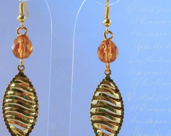 Gold leaf and Crystal - Orange