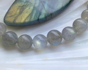 AA Labradorite 8mm Round Beads