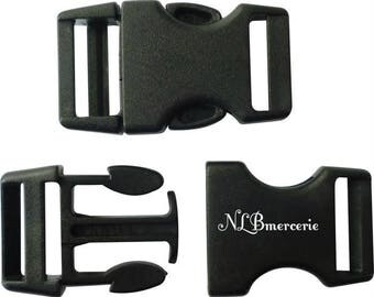 Plastic black buckle clips clasp 25 mm Lot 10
