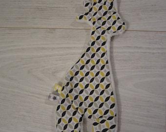 Pretty little flat plush giraffe